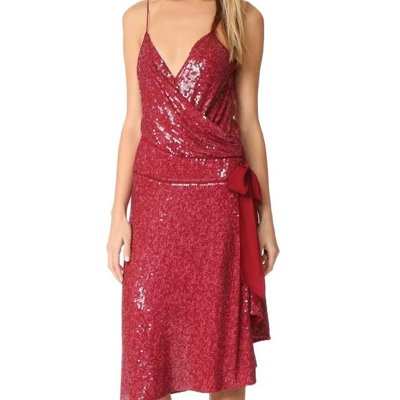 Diane Von Furstenberg Dresses   Nwt Dvf Brenndah Red Sequin ...